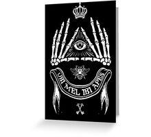 Ubi Mel Ibi Apes Greeting Card