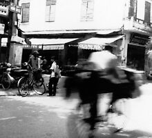 Cyclists, Hanoi by Maggie Hegarty