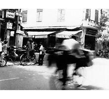 Cyclists, Hanoi Photographic Print