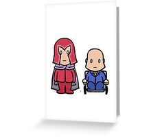 X-MEN - Magneto & Xavier Greeting Card