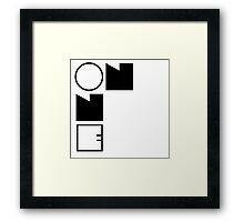 On One | OG Collection Framed Print