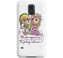 It's dangerous to play alone Samsung Galaxy Case/Skin