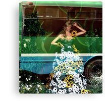 Floral fall Street Fashion... Canvas Print