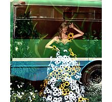 Floral fall Street Fashion... Photographic Print