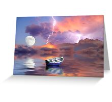 Tye Dye Sky Greeting Card