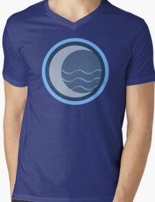 Minimalist Water Tribe Emblem Mens V-Neck T-Shirt