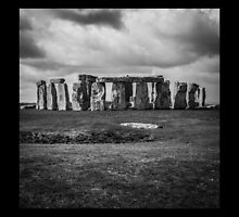 Stonehenge and Storm Clouds by Nicole Petegorsky