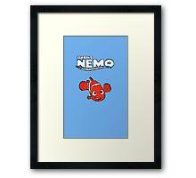 Pixel Retro Finding Nemo Framed Print