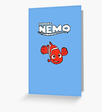 Pixel Retro Finding Nemo Greeting Card