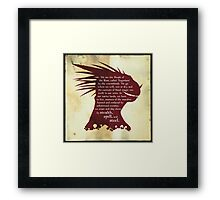 Elder Scrolls: Who are the Argonians? Framed Print