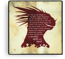 Elder Scrolls: Who are the Argonians? Canvas Print