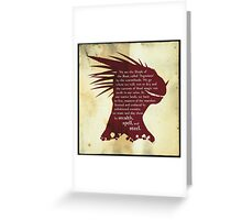 Elder Scrolls: Who are the Argonians? Greeting Card