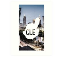 CLE Skyline Chief Wahoo Art Print