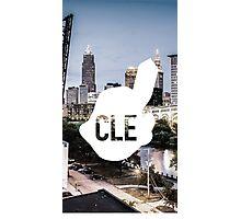 CLE Skyline Chief Wahoo Photographic Print