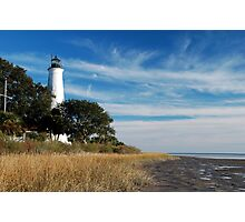 St Marks Lighthouse, near Tallahassee, Florida Photographic Print