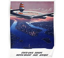 TWA Airplane Poster