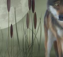 Moon Wolf Sticker
