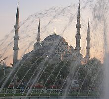 Blue Mosque at Dusk by Marguerite Foxon