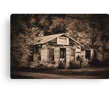 Hazel's cafe Canvas Print