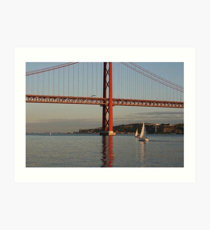 Bridge over (un)troubled waters Art Print