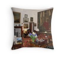 Sitting Room at Cawdor Castle, Scotland Throw Pillow