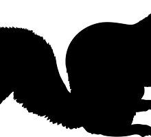 Squirrel Silhouette by Maria Bell