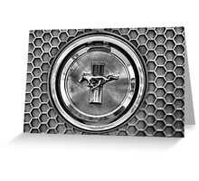 Mustang honeycomb grill Greeting Card