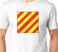 International maritime signal flags sea alphabet collection letter y Unisex T-Shirt