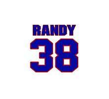National baseball player Randy Schwartz jersey 38 Photographic Print