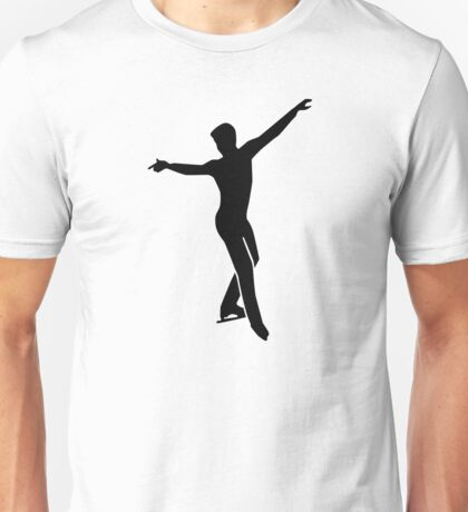 Figure skating man Unisex T-Shirt