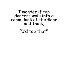 Tap Dancers Photographic Print