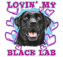 Lovin' My Black Lab Photographic Print