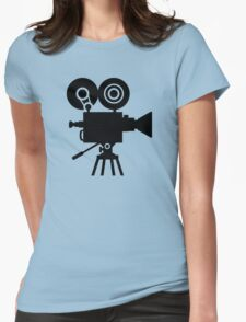 Film movie camera Womens Fitted T-Shirt