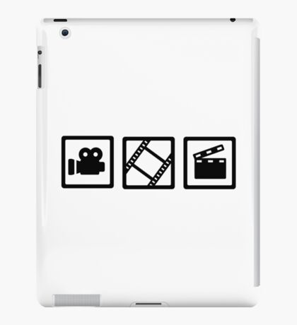 Film movie reel clapper camera iPad Case/Skin