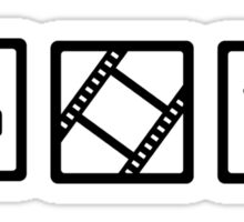 Film movie reel clapper camera Sticker