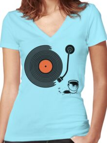 This is why I'm Stripe Women's Fitted V-Neck T-Shirt