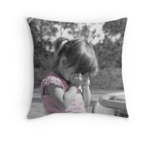 Just a little sad... Throw Pillow