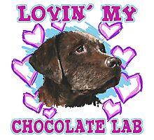 Lovin' My Chocolate Lab Photographic Print