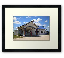 Route 66 - Odell Gas Station Framed Print