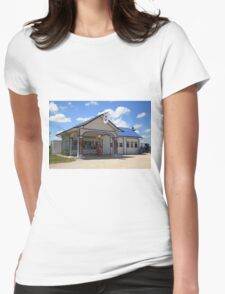 Route 66 - Odell Gas Station Womens Fitted T-Shirt