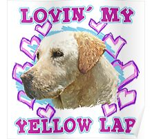 Lovin' My Yellow Lab Poster