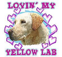 Lovin' My Yellow Lab Photographic Print