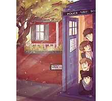 A trip in the TARDIS Photographic Print