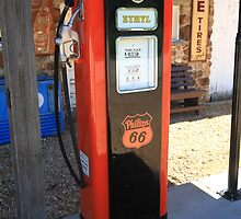Route 66 - Vintage Gas Pump by Frank Romeo
