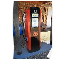 Route 66 - Vintage Gas Pump Poster