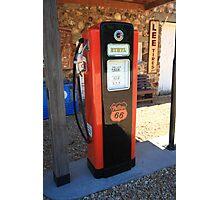 Route 66 - Vintage Gas Pump Photographic Print