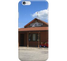 Route 66 - Old Log Cabin iPhone Case/Skin