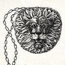 Golden lion, pendant for Drawing Day by Freda Surgenor
