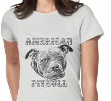 American Pitbull Womens Fitted T-Shirt