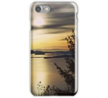 Sunset on Washingtons coast iPhone Case/Skin